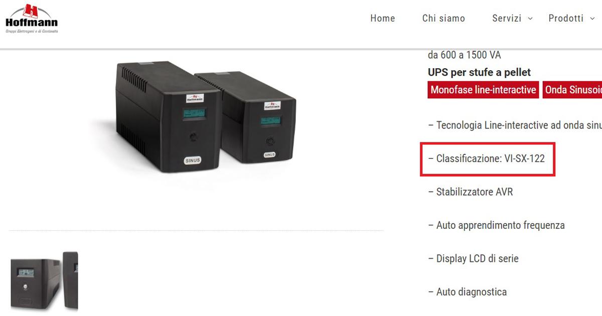 Classificazione UPS